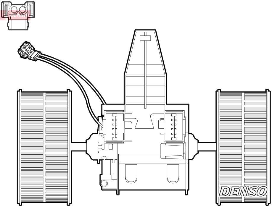 DENSO  DEA05009 Innenraumgebläse Spannung: 12V