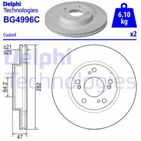 Brake Disc Brake Disc Thickness: 23mm, Ø: 282mm with OEM Number 45251TBAA00