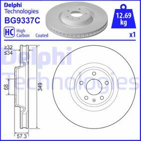 Bremsscheibe Bremsscheibendicke: 34mm, Lochanzahl: 5, Ø: 349mm mit OEM-Nummer 4M0615301AN