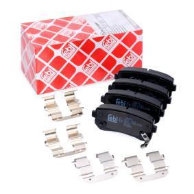 Brake Pad Set, disc brake Width: 41,0mm, Thickness 1: 15mm with OEM Number 58302 4WA10