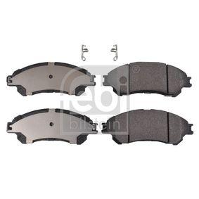 Bremsbelagsatz, Scheibenbremse Breite: 55,0mm, Dicke/Stärke 1: 15,8mm mit OEM-Nummer 55810-61M01