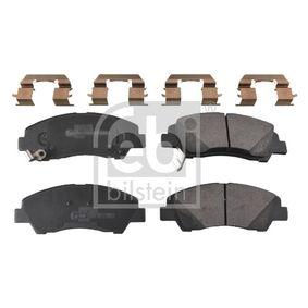 Bremsbelagsatz, Scheibenbremse Breite: 50,5mm, Dicke/Stärke 1: 15,8mm mit OEM-Nummer 58101B4A00