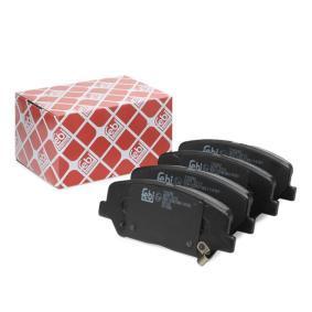 Bremsbelagsatz, Scheibenbremse Breite: 60,2mm, Dicke/Stärke 1: 16,9mm mit OEM-Nummer 581012MA00