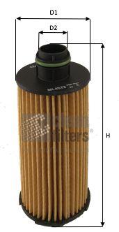 CLEAN FILTER  ML4573 Ölfilter Höhe: 130mm