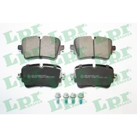 Brake Pad Set, disc brake Width: 129mm, Height: 65,3mm, Thickness: 17mm with OEM Number 4M0 698 451P