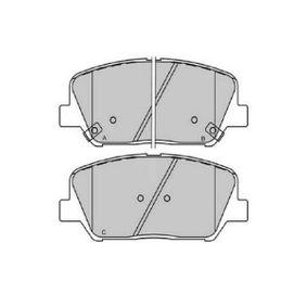 Bremsbelagsatz, Scheibenbremse Breite: 60mm, Dicke/Stärke: 16,9mm mit OEM-Nummer 58101 A7A20