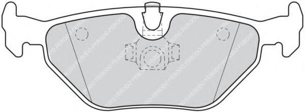 FERODO  FQT1301 Bremsbelagsatz, Scheibenbremse Höhe: 43,7mm, Dicke/Stärke: 17,3mm
