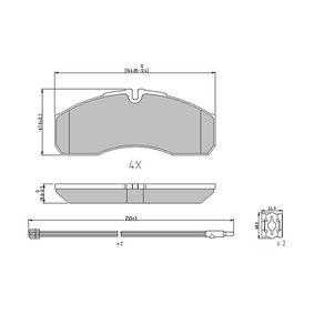 Bremsbelagsatz, Scheibenbremse Höhe 1: 68mm, Dicke/Stärke: 20,3mm mit OEM-Nummer 50018-44748