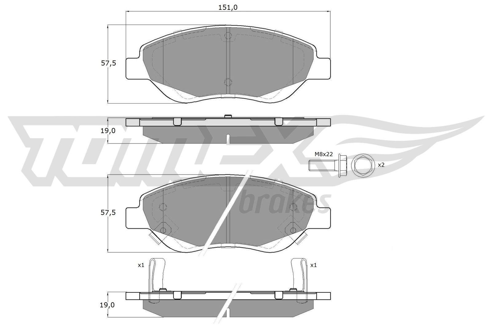 Bremsbeläge TX 12-501 TOMEX brakes 23713 in Original Qualität