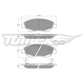 Bremsbelagsatz, Scheibenbremse Höhe: 57,5mm, Dicke/Stärke: 19mm mit OEM-Nummer 7 736 855 3