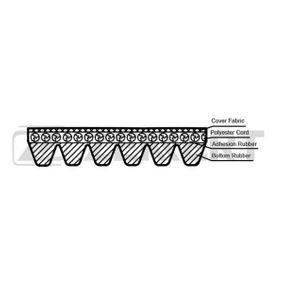 V-Ribbed Belts Length: 1070mm, Number of ribs: 6 with OEM Number 03L903137G