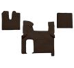OEM Autofußmatten FL06 BROWN von F-CORE