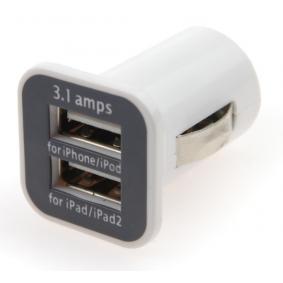 Автомобилно зарядно за телефони Изходящ ток: 1А, 2.1А, входящо напрежение: 12волт, 24волт 7113301026