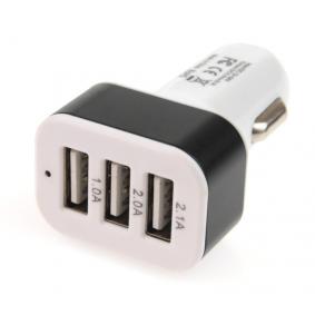 Samochodowa ładowarka do telefonu Natężenie prądu wyjżciowe: 1A, 2A, 2.1A, Nap. na wejsciu: 12Zakres pomiarowy, 24Zakres pomiarowy 7113501027