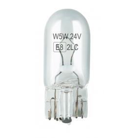 Bulb, indicator transparent 5W, W5W, T10, W2.1x9.5d, Halogen 01002 MERCEDES-BENZ VARIO Bus