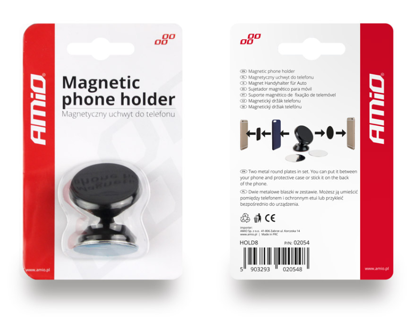 Mobile phone holders AMiO 02054 expert knowledge