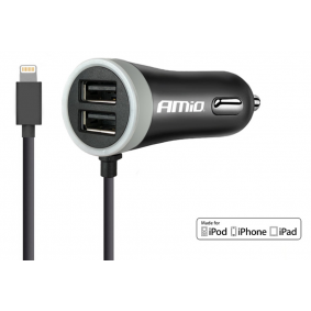 Car mobile phone charger Output current: 2x 1.2A, Input Voltage: 12V, 24V 02057