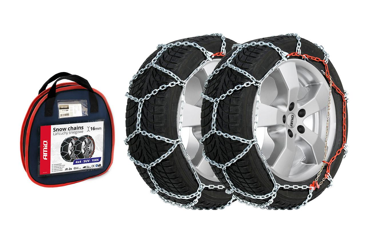 AMiO KB-220 02118 Catene da neve Diametro ruota: 14Inch, Diametro ruota: 15Inch, Diametro ruota: 16Inch