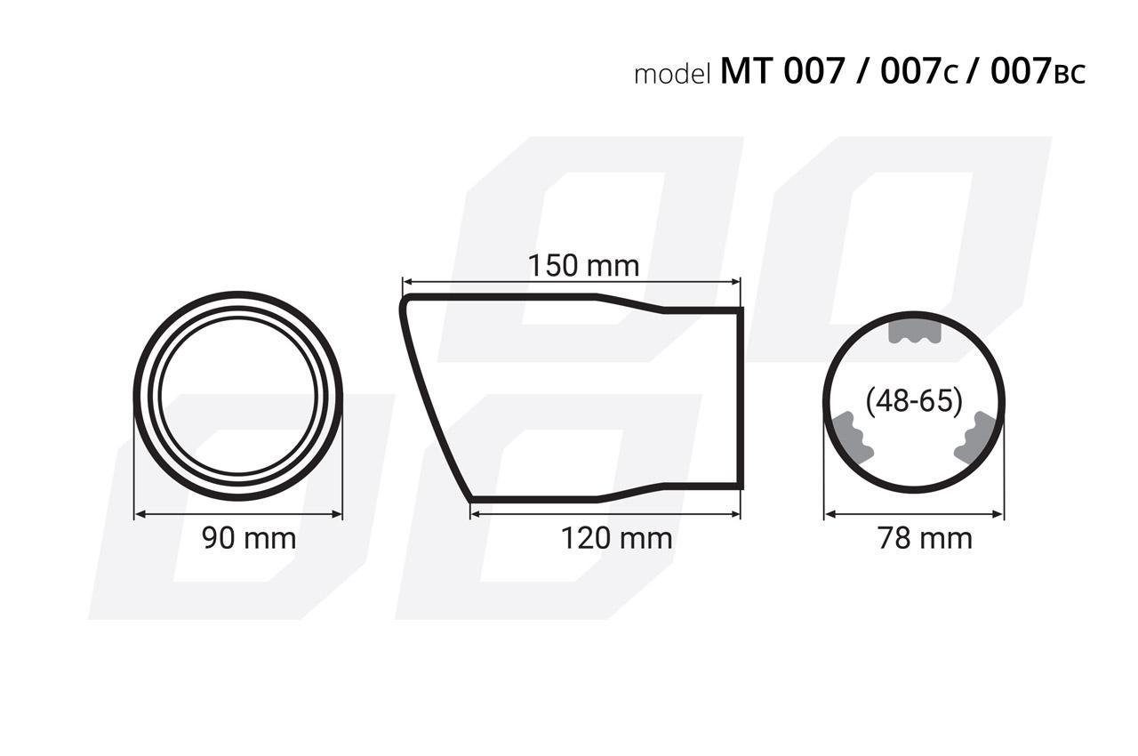 Deflector tubo de escape AMiO 02193 evaluación
