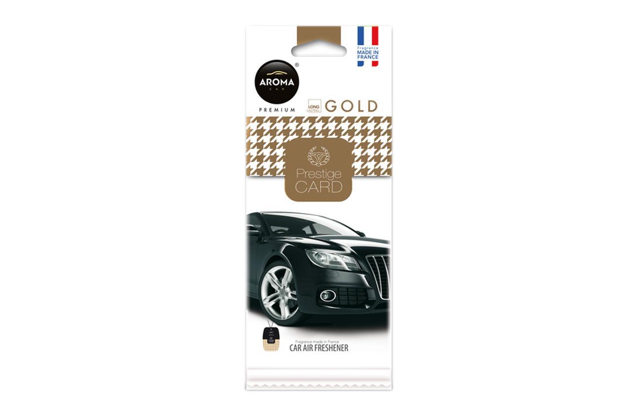 AROMA CAR Gold, Prestige Card A92666 Vůně do auta