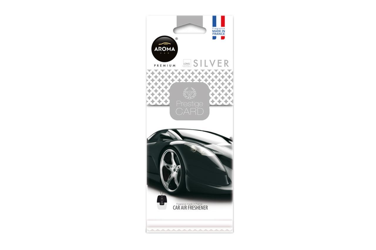AROMA CAR Silver, Prestige Card A92665 Lufterfrischer