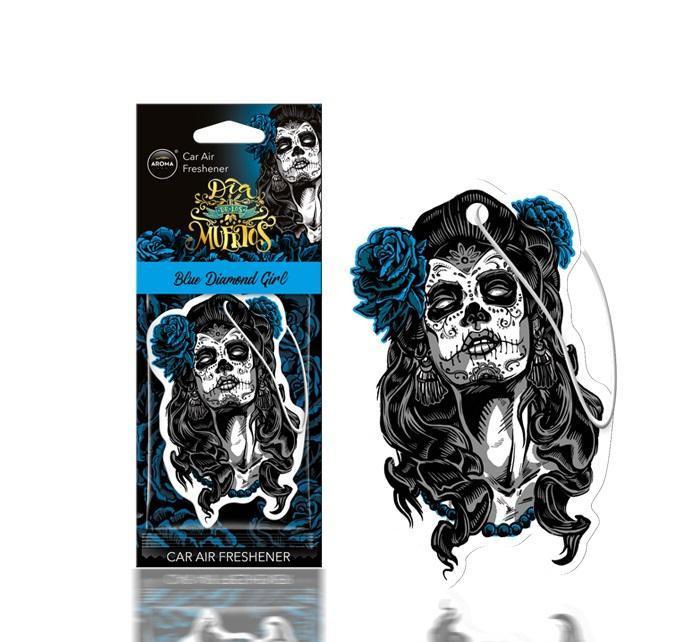 AROMA CAR Blue diamond girl, Dia de los Muertos A83116 Vůně do auta Univerzální: Ano