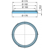 original BPW 15205724 Sensor Ring, ABS