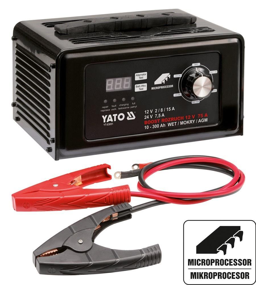 Batterieladegerät YATO YT-83051 Erfahrung