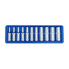 """Socket Set Square Drive Tang Size: 6.3 (1/4"""")mm (inch), Spanner size: 10, 11, 12, 13, 4, 5, 5.5, 6, 7, 8, 9"""