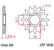 OEM Chain Pinion JTF1516.17 from JTSPROCKETS