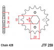 OEM Chain Pinion JTF259.18 from JTSPROCKETS