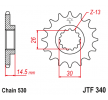OEM Chain Pinion JTF340.18 from JTSPROCKETS