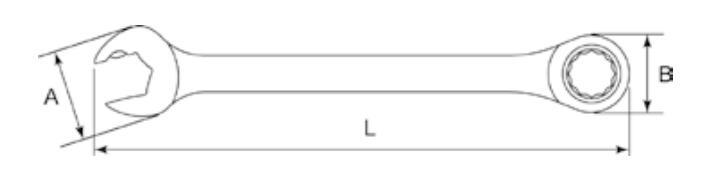 Ratschen-Ringgabelschlüssel 43619 SATA 43619 in Original Qualität