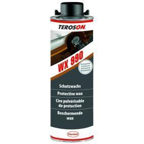 Unterbodenschutz TEROSON 2069707 für Auto (Flasche, WX 990, Inhalt: 1l, Gewicht: 1.1kg, schwarz)