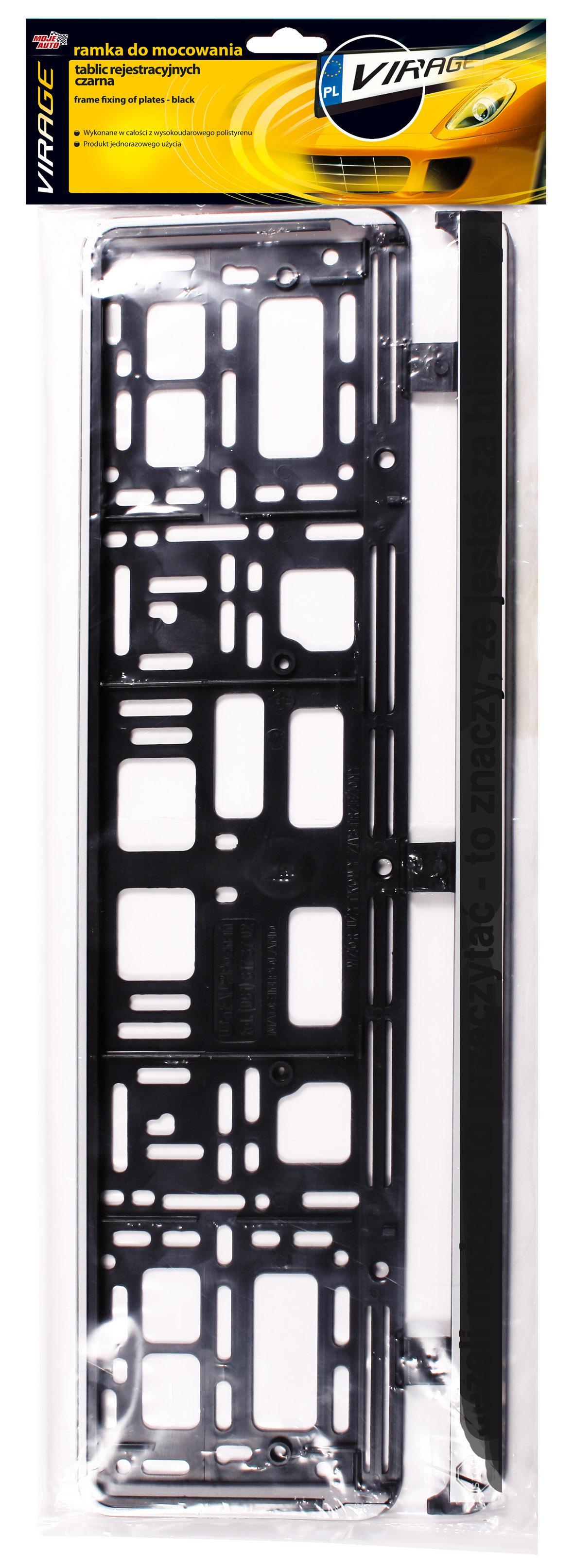 Porte plaques d'immatriculation VIRAGE 93-001 5905694010296