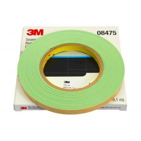 Seam sealers 3M 08475 for car (9.1m, 9.5mm, 0.9mm, Over-paintable, Light-green, Reel)