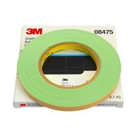 Sellador de juntas 3M 08475 para auto (9.1m, 9.5mm, 0.9mm, rebarnizable, verde claro, Rollo)
