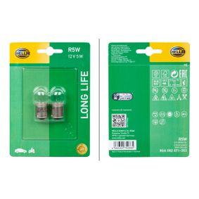 Крушка с нагреваема жичка, светлини за парк / позициониране R5W, BA15s, 12волт, 5ват 8GA 002 071-353