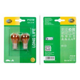 Glühlampe, Blinkleuchte PY21W, BAU15d, 12V, 21W 8GA 006 841-133
