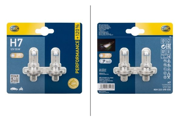 Glühlampe, Hauptscheinwerfer 8GH 223 498-034 HELLA H712V120B2 in Original Qualität