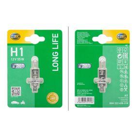 Bulb, headlight H1, P 14,5 s, 12V, 55W 8GH 223 498-318 FORD FOCUS, FIESTA, MONDEO