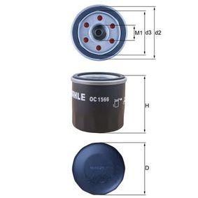 Ölfilter Ø: 66,0mm, Außendurchmesser 2: 62mm, Ø: 66,0mm, Innendurchmesser 2: 54mm, Innendurchmesser 2: 54mm, Höhe: 65mm mit OEM-Nummer S26300-02502
