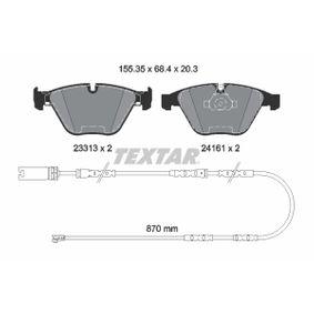 Bremsbelagsatz, Scheibenbremse Breite: 155,3mm, Höhe: 68,4mm, Dicke/Stärke: 20,3mm mit OEM-Nummer 24161