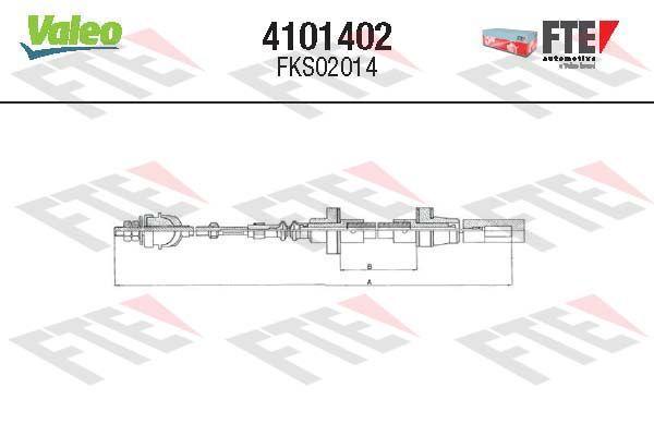 FTE  4101402 Cable de accionamiento, accionamiento del embrague