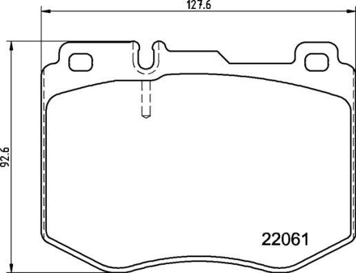 Brake Pads P 50 145 BREMBO 22061 original quality