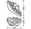 OEM Hauptscheinwerfersatz LEDHL108-BK von OSRAM für VW