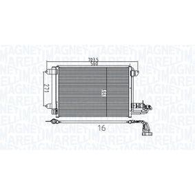 Kondensator, Klimaanlage Netzmaße: 560x391x16 mit OEM-Nummer 1K0 820 411 AC