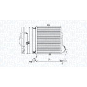 Kondensator, Klimaanlage Netzmaße: 355x382x20 mit OEM-Nummer 000 163 2V00 3