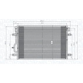 Kondensator, Klimaanlage Netzmaße: 591x408x16 mit OEM-Nummer 6R0 820 411 J