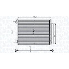 Kondensator, Klimaanlage Netzmaße: 525x407x12 mit OEM-Nummer 92100-6454R